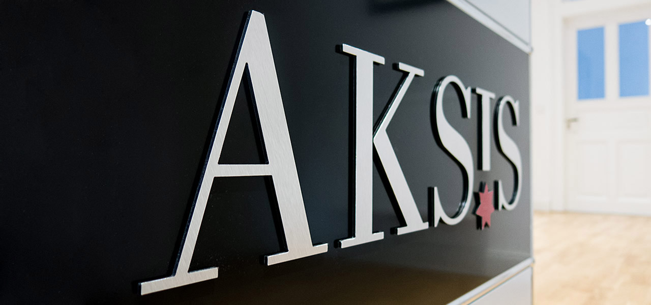 Aksis Werbeagentur und Internetagentur Ulm - Blogeintrag Aksis logo Empfang