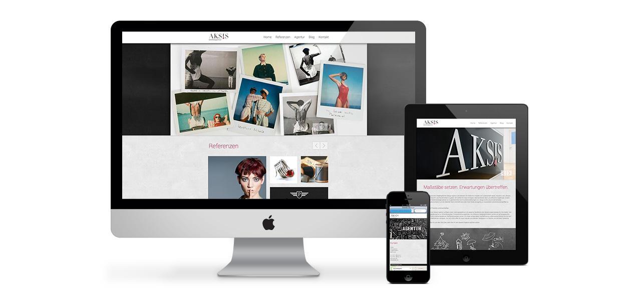Aksis Werbeagentur und Internetagentur Ulm - Blogeintrag Akis website Mockup Responsive Design