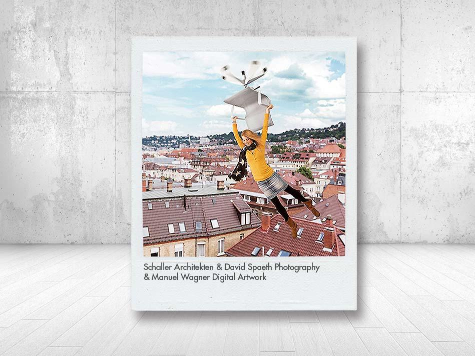 """Aksis Werbeagentur und Internetagentur Ulm - Blogeintrag Fotowettbewerb """"physix Ulm"""" Fliegen mit Stuhl"""