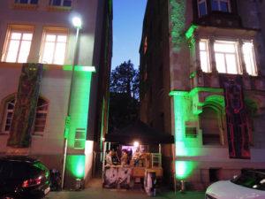Aksis Werbeagentur und Internetagentur Ulm - Blogeintrag Kulturnacht Gasse angeleuchtet