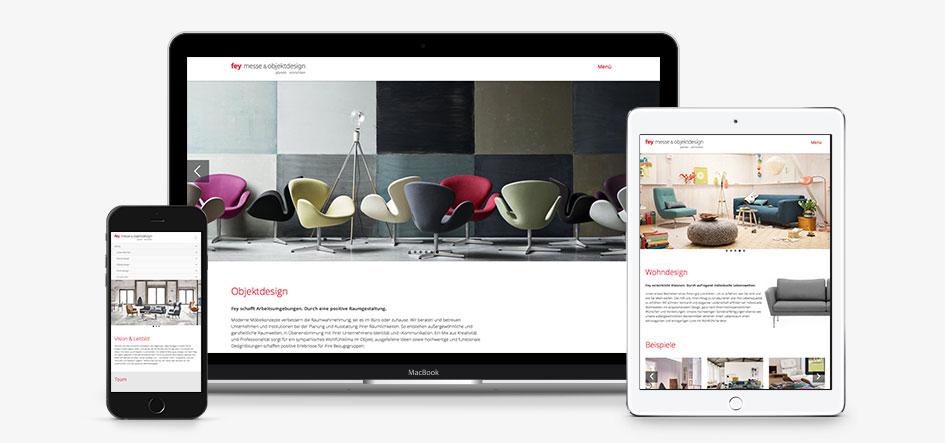 Aksis Werbeagentur und Internetagentur - Blogeintrag website-relaunch fey - Mockup Responsive Design