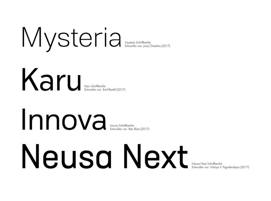 Auswahl an neuen Trends in der Typografie – Aksis Werbeagentur und Internetagentur Ulm – Neuinterpretation Helvetica