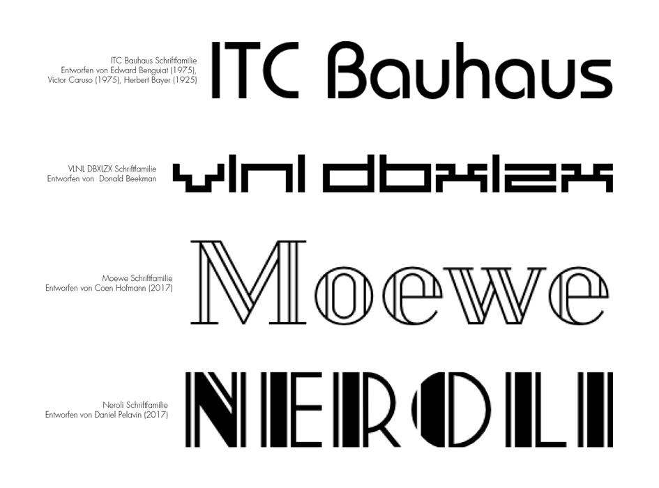 Auswahl an neuen Trends in der Typografie – Aksis Werbeagentur und Internetagentur Ulm – Geometrische Fonts