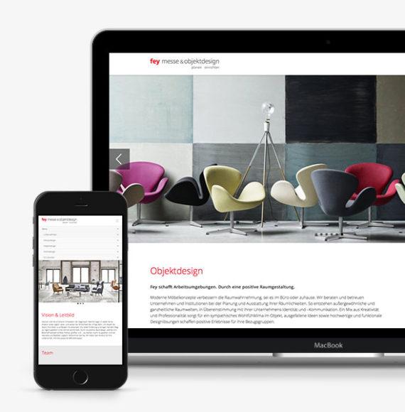 Responsive Website für Fey Messedesign und Objektdesign