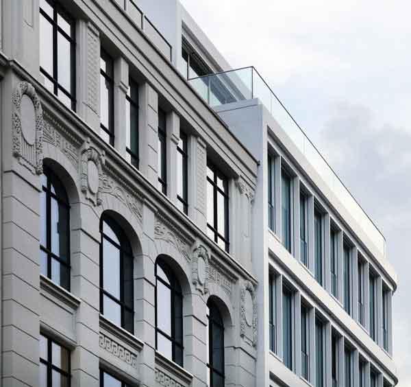 Fotografie einer Fassade des Baltic Haus für HD Wahl