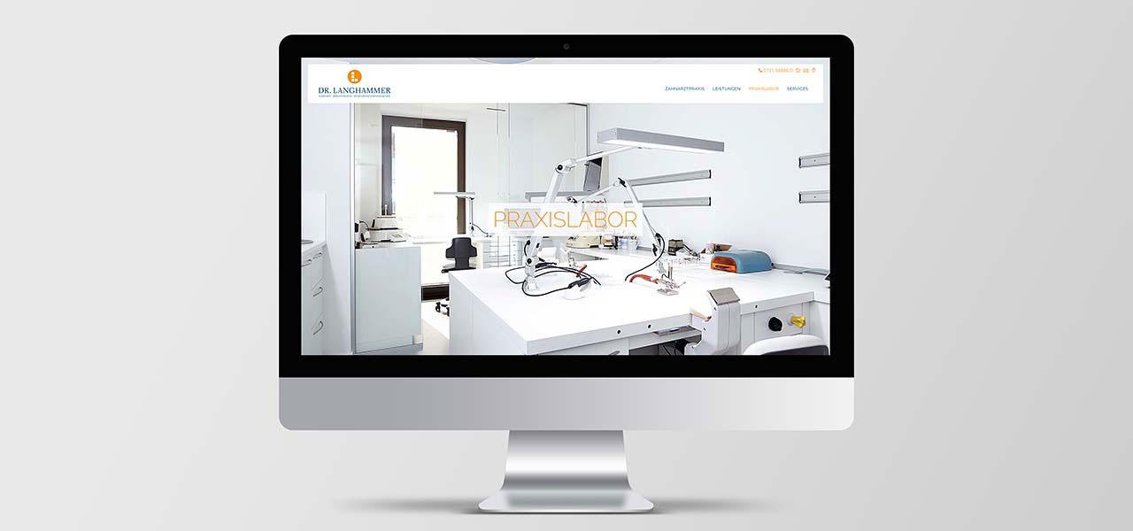 Webseite gestaltet für Zahnarzt Langhammer Ulm von der AKSIS Werbeagentur