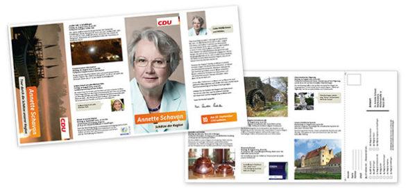 Flyer für den Wahlkampf von Annette Schavan