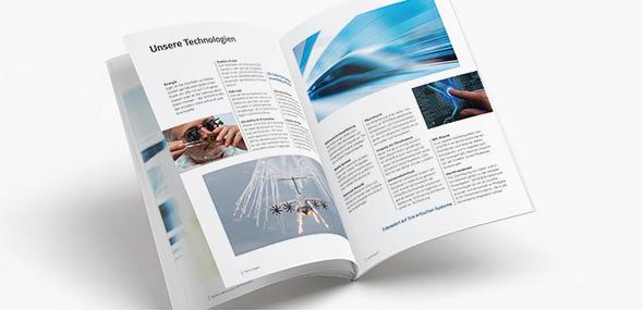 Imagebroschüre von Spherea Germany gestaltet von der AKSIS Werbeagentur
