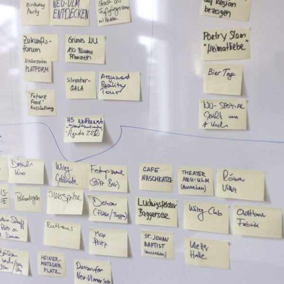 Insights - Konzeption und Planung eines Projekts mit PostIts