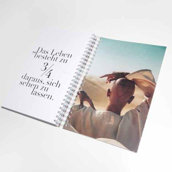 Insights - Seite aus dem Agenturbuch der Aksis Werbeagentur