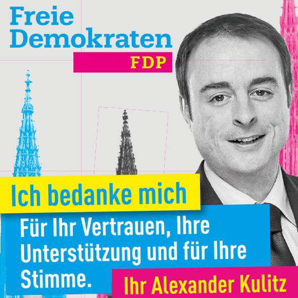 Danksagung von Alexander Kulitz (FDP) für die Landtagswahl 2016