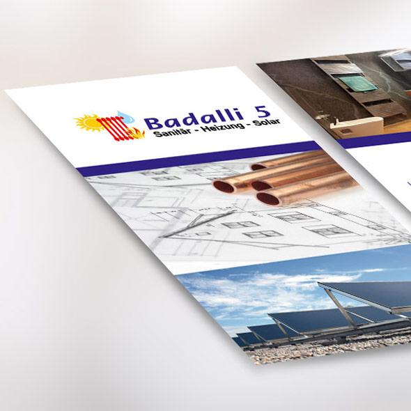 Detailansicht des Entwurfs der Website von Badalli 5