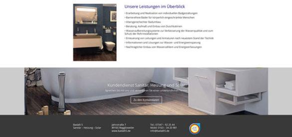 Ausschnitt der responsiven Website von Badalli 5 entworfen von der AKSIS Werbeagentur