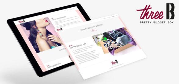 Die responsive Website, gestaltet von der AKSIS Werbeagentur, für threeB auf 2 Tablets