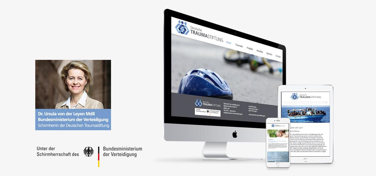 Darstellung auf verschiedenen Geräten. Responsive Website