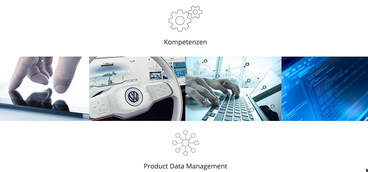 Ausschnitt aus der responsiven Website von Ethon Technologies