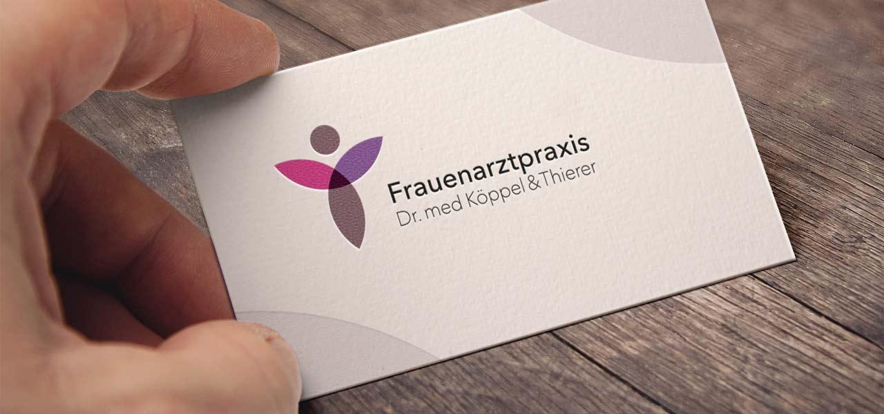 Die Visitenkarte der Frauenarztpraxis Dr. med Köppel & Thierer