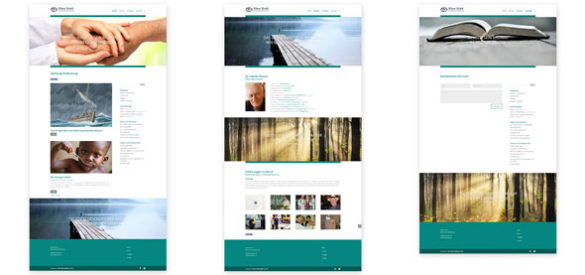 Übersicht über 3 Unterseiten der responsiven Website von Klaus Stock