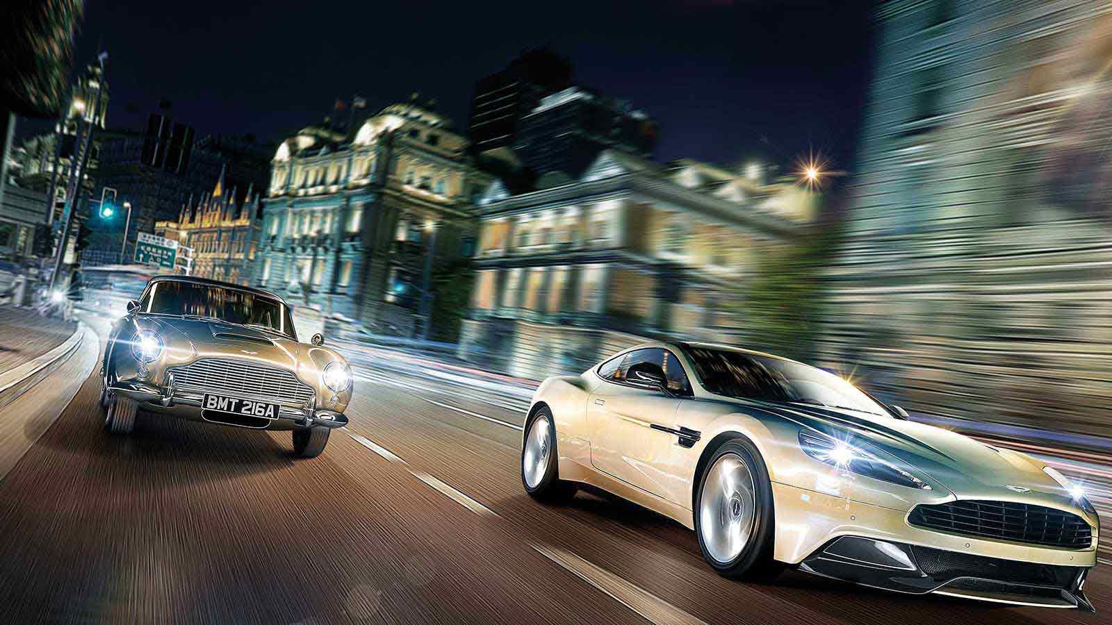 Zwei schnelle Autos auf der Straße. Aksis Werbeagentur für Norbert Muerrle