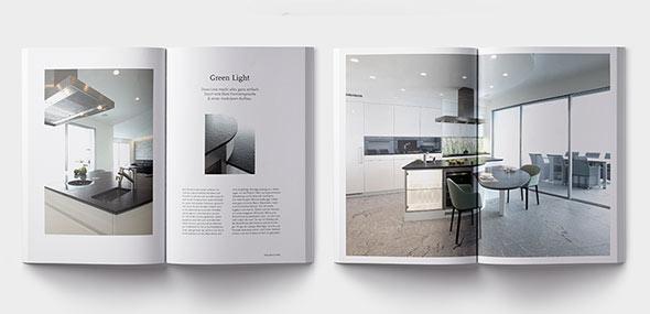Innenansicht des Buchs für Podium Swiss Küchen