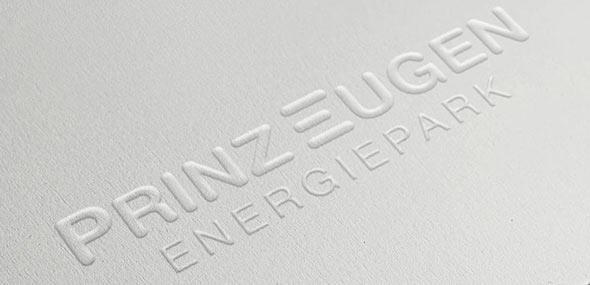 Geprägtes Logo von Prinz Eugen Energiepark