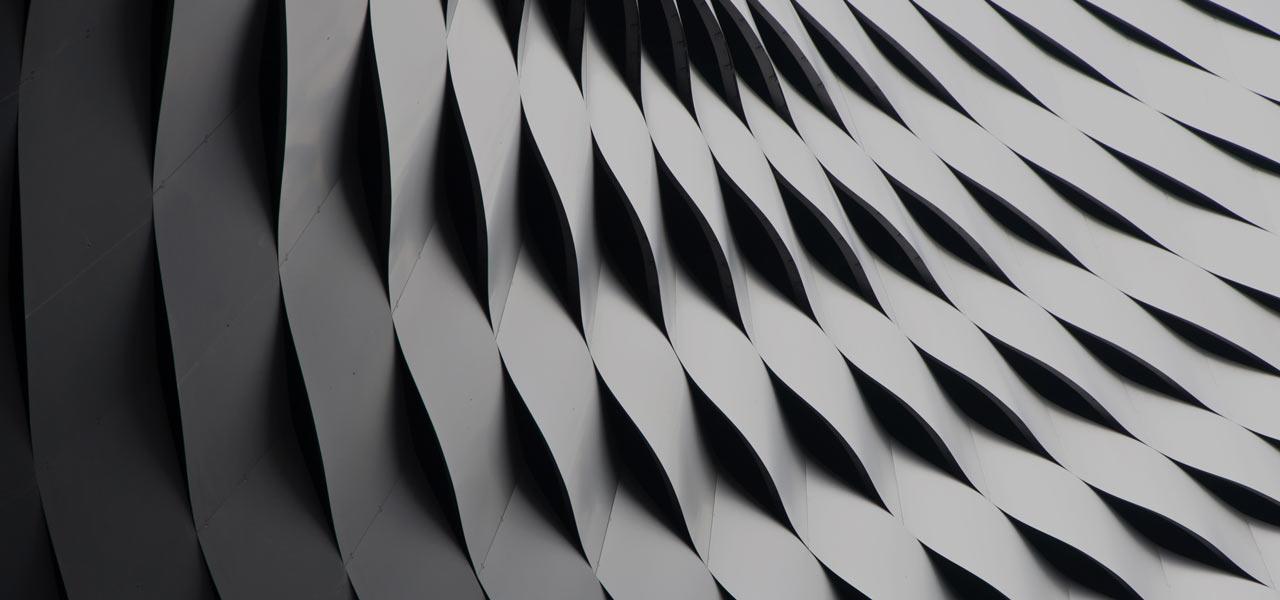 Ein abstraktes Foto eines modernen Gebäudes