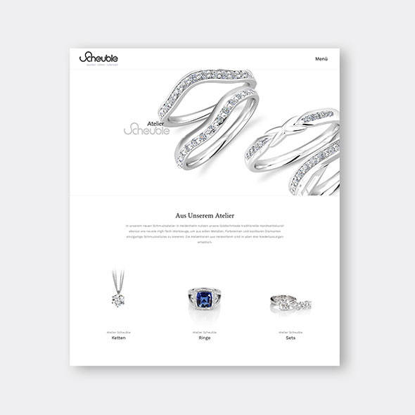 Die neue responsive Website von Scheuble Schmuck, erstellt von der AKSIS Werbeagentur
