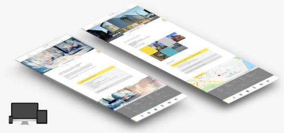 Überblick über zwei Unterseiten der neuen responsiven Website von Sontag und Partner