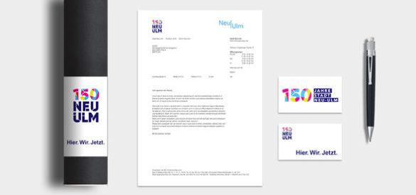 Corporate Design Medien für den Pitch der Stadt Neu Ulm