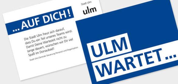 Visitenkarte für die Cross Media Kampagne der Stadt Ulm