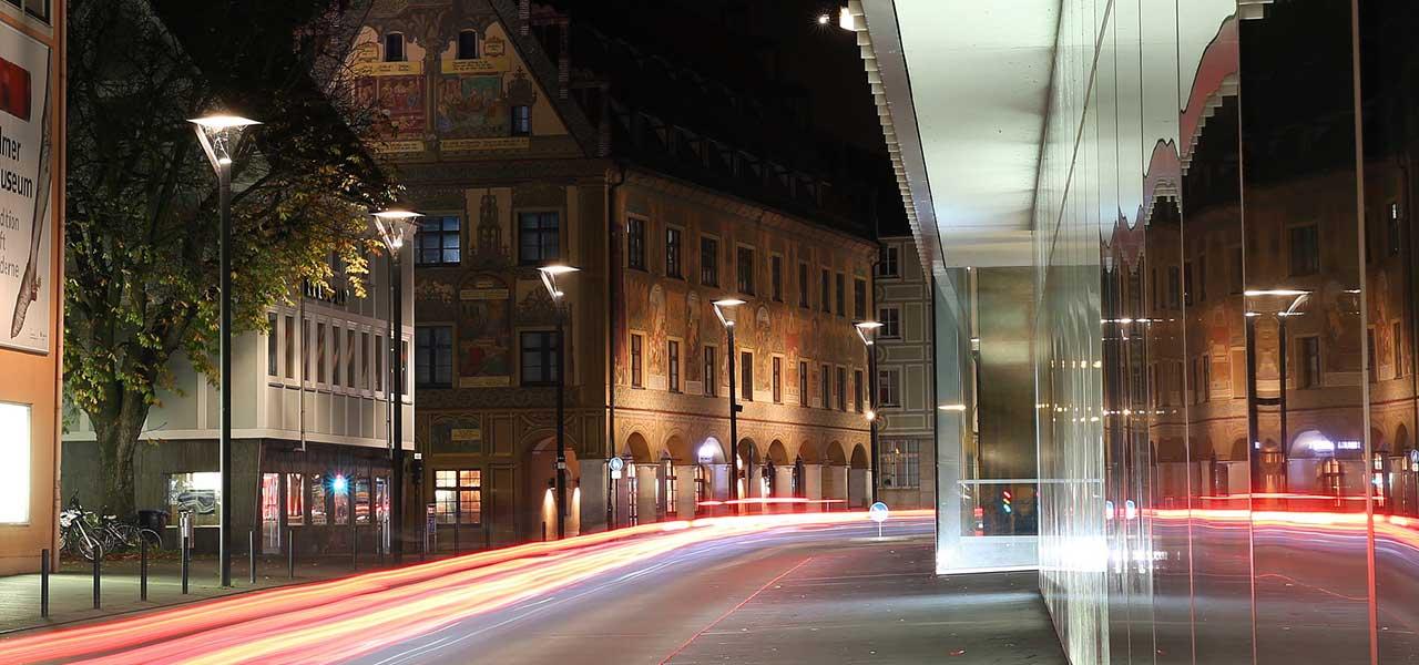 Nachts in Ulm, Neue Mitte
