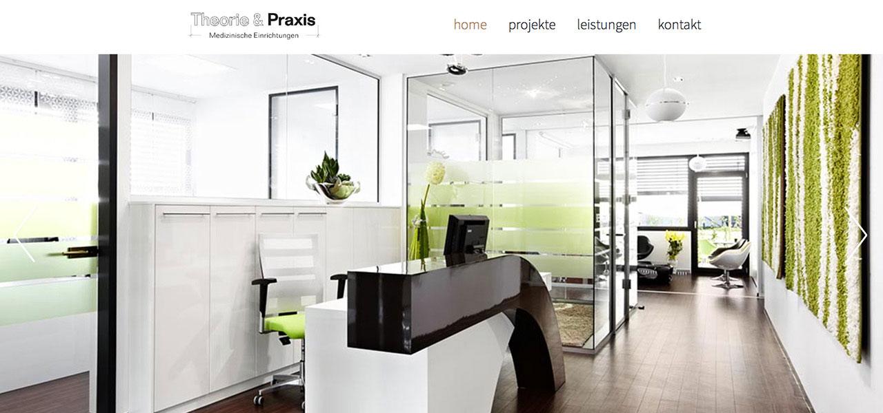 Startseite der responsiven Website von Theorie & Praxis