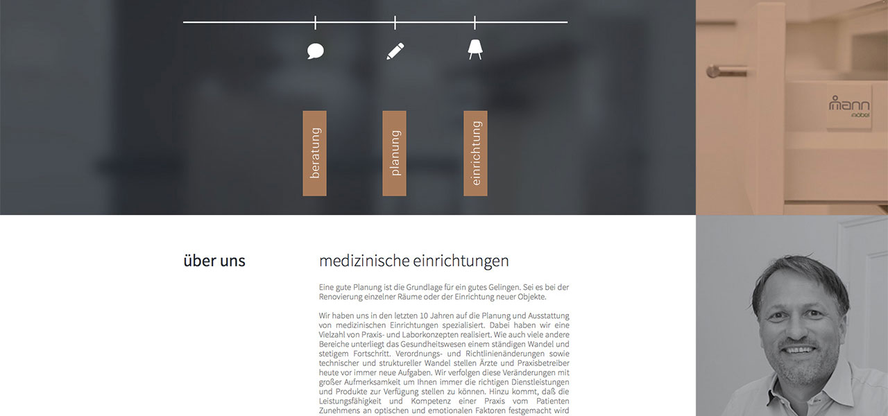 Ausschnitt der Website von Theorie & Praxis