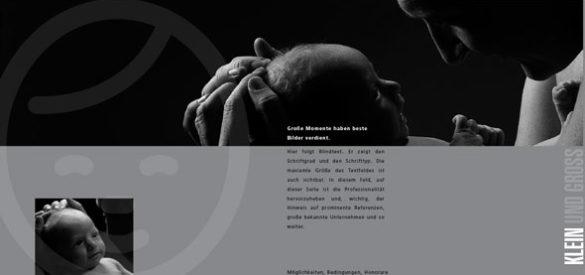 Innenansicht des Flyers für Fotografien von Neugeborenen
