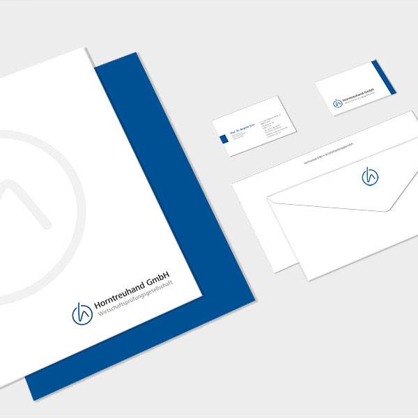 Corporate Design für Horntreuhand aus Ulm, konzipiert von der AKSIS Werbeagentur