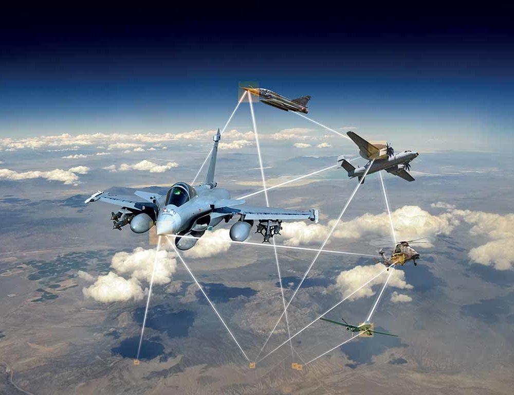 Flugzeuge sind über die Luft miteinander verbunden