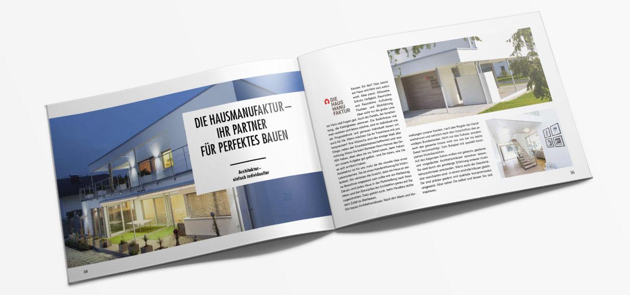 Innenansicht der Broschüre der Hausmanufaktur