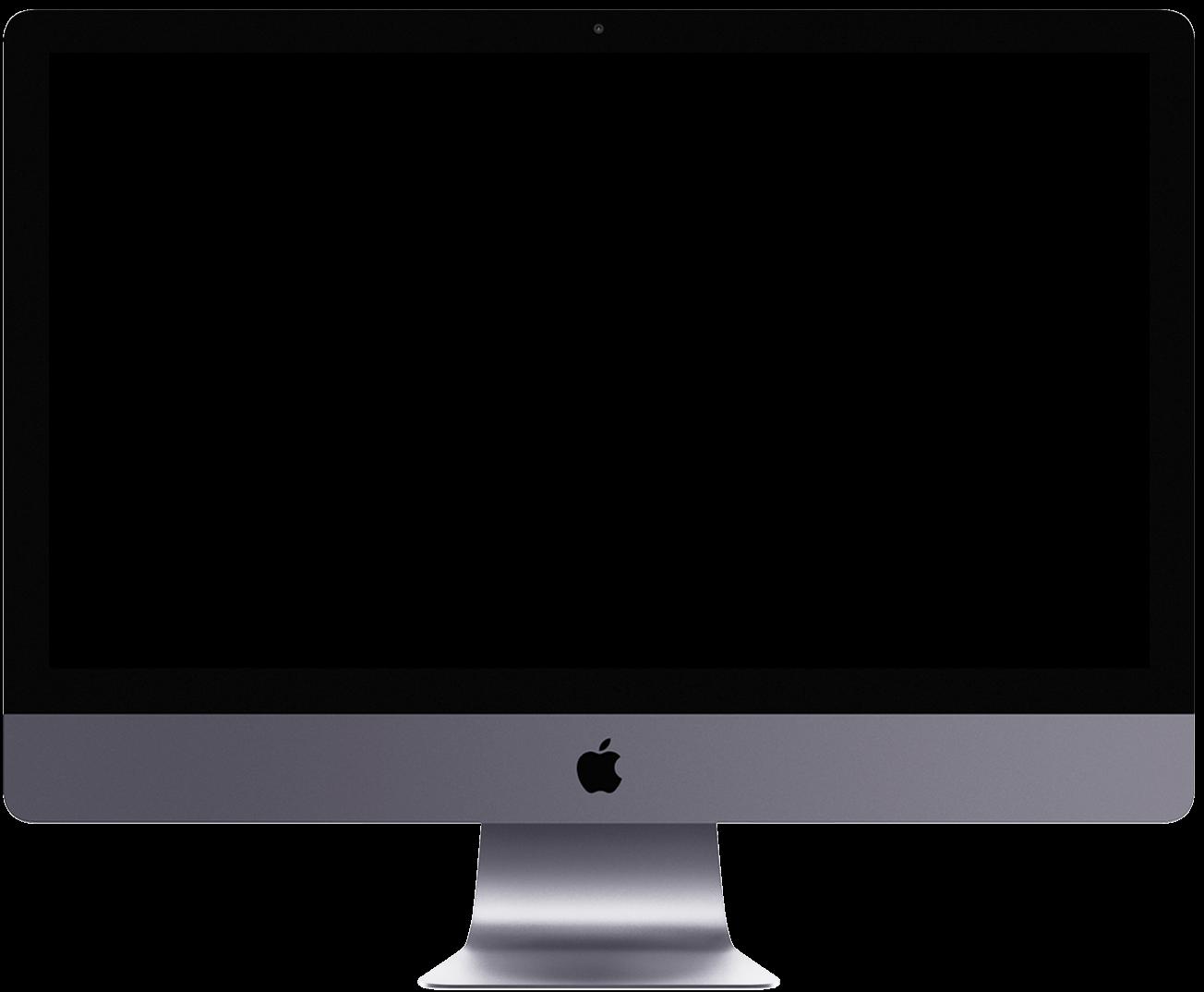 Mockup eines iMacs, in dem die Aksis Werbeagentur Projekte präsentiert.