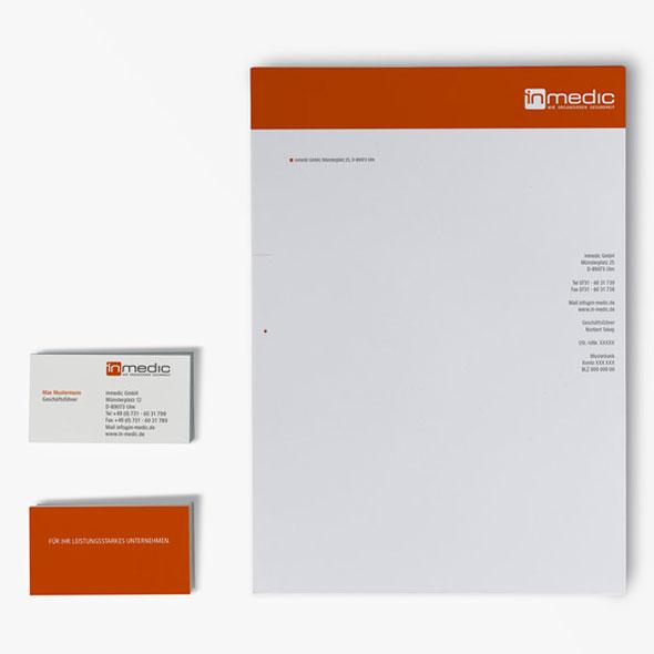 Visitenkarten & Briefpapier von inmedic