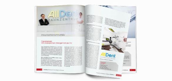 Innenansicht des Magazins den die AKSIS Werbeagentur für Medmaxx gestaltete