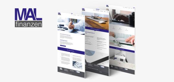 Übersicht über 3 Unterseiten der responsiven Website von MAL Finanzen