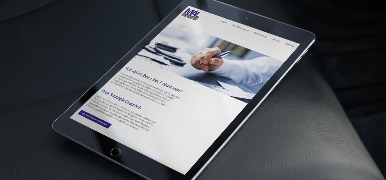 Die responsive Webseite von MAL Finanzen auf einem Tablet