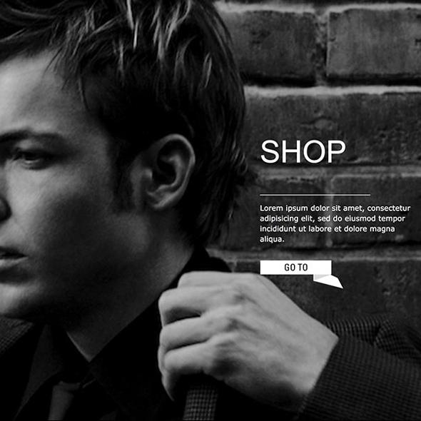 Detailansicht der Website mit integriertem Onlineshop