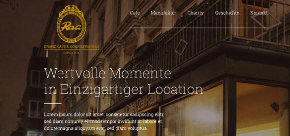 Ausschnitt aus der Website von Grand Café Rau