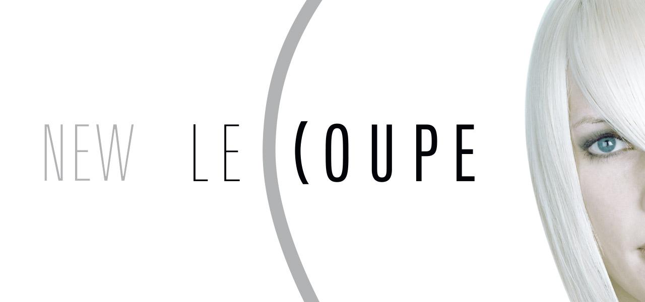Logo von Le Coupe mit einer Frau mit gefärbten Haaren