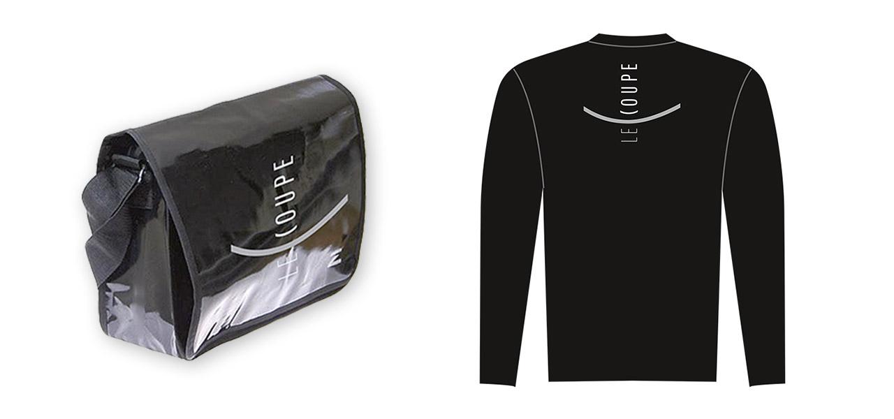 Tasche und Shirt für Le Coupe