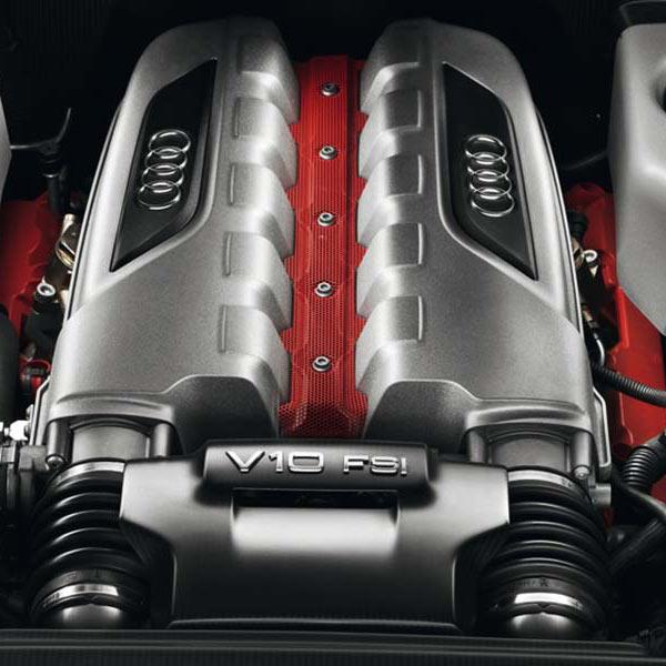 Der Motor eines Audi