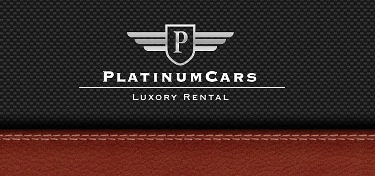 Logo von PlatinumCars auf Stoff/Leder