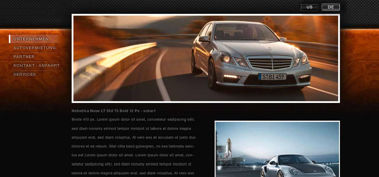 Ansicht der Website von PlatinumCars