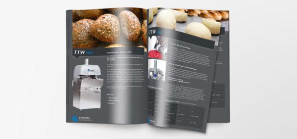 Imagebroschüre Schneider Bäckereisysteme